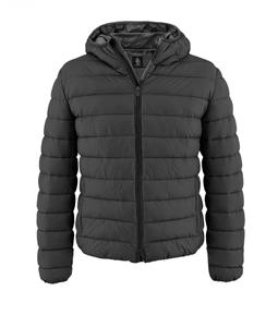 Refrigue - Outlet - sago piumino con cappuccio grey/black