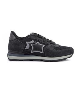 Atlantic Stars - Saldi - sneakers antares in suede black cuttlefish