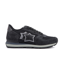 Atlantic Stars - Saldi - sneakers antares in suede black cuttlefish