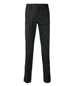 Entre Amis - Pantaloni - pantalone tasca america in lana corto grigio