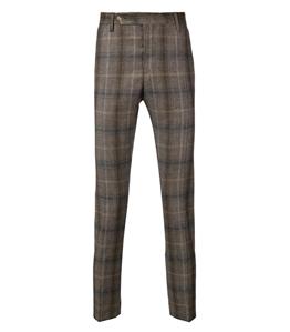 Entre Amis - Pantaloni - pantalone tasca america corto con cinturino lungo fango a quadri