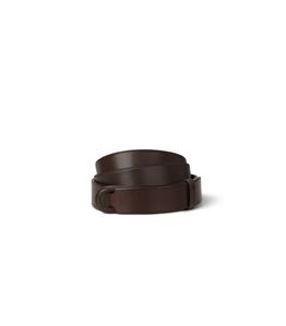 "Orciani - Cinture - cintura nobuckle""bull"" in cuoio testa di moro"