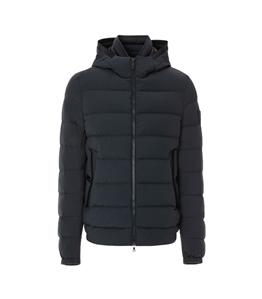 Peuterey - Giubbotti - kenobi - piumino slim in nylon e jersey blu