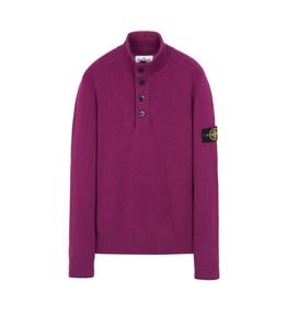Stone Island - Maglie - maglia in lana 4 bottoni magenta