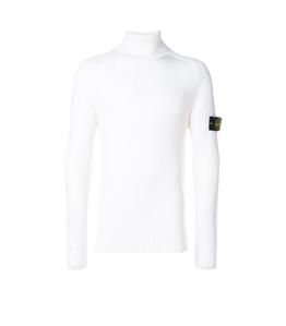 Stone Island - Maglie - maglia collo alto bianca