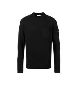 Stone Island - Maglie - maglia in lana girocollo nera