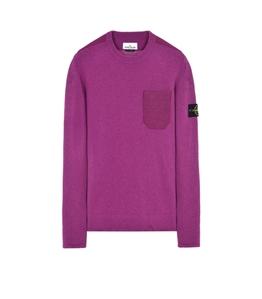 Stone Island - Maglie - maglia in lana girocollo magenta