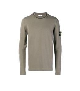 Stone Island - Maglie - maglia in lana girocollo verde oliva