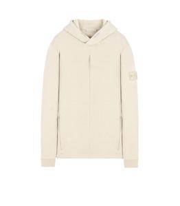 Stone Island - Felpe - felpa in lana con cappuccio ghost piece beige