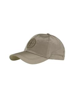 Stone Island - Cappelli - cappellino nylon metal verde oliva