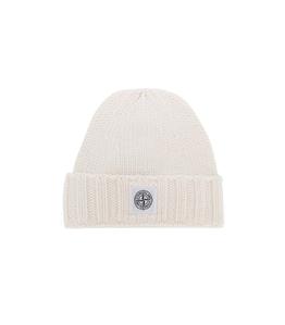 Stone Island - Cappelli - berretto in lana bianco