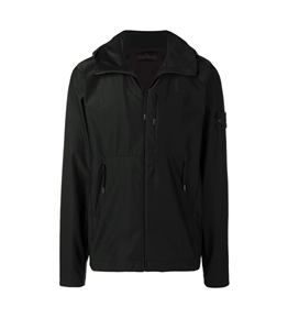 Stone Island - Giubbotti - ghost piece_nylon cotton 3l nero