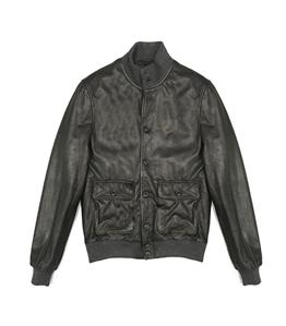 The Jack Leathers - Saldi - mark leather jacket verde