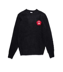 Aspesi - Maglie - maglia in lana con patch ginger bread nera