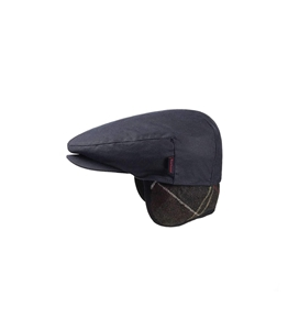 Barbour - Cappelli - cheviot wax tartan cap navy