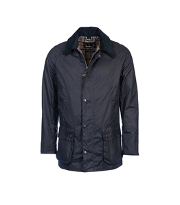 Barbour - Giubbotti - ashby wax jacket navy