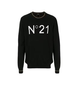 N°21 - Maglie - maglione girocollo con logo black
