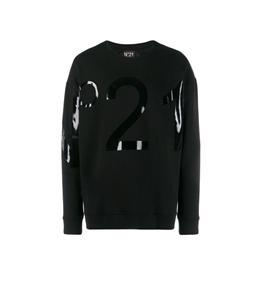 N°21 - Felpe - felpa girocollo con logo lucido black