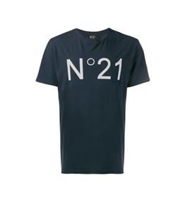 N°21 - T-Shirt - t-shirt con logo blu