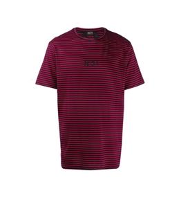 N°21 - T-Shirt - t-shirt a righe con stampa logo
