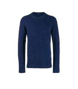 Roberto Collina - Maglie - brushed sweater viola