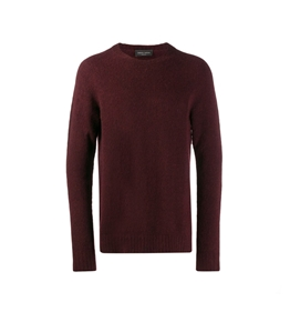 Roberto Collina - Maglie - brushed sweater bordeaux