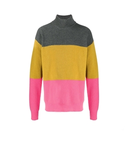 Roberto Collina - Maglie - colour blocl sweater rose