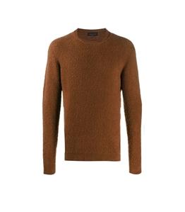 Roberto Collina - Maglie - boucle' sweater cognac