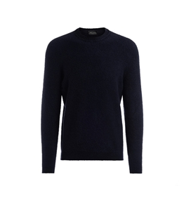 Roberto Collina - Maglie - boucle' sweater navy