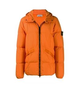 Stone Island - Giubbotti - garment dyed crinkle reps ny down arancio