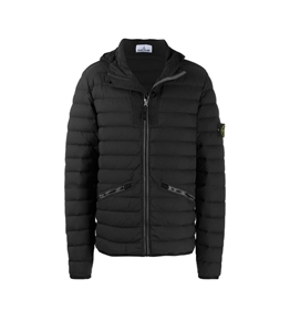 Stone Island - Giubbotti - loom woven down chambers stretch nylon-tc nero