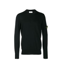 Stone Island - Maglie - maglia in lana leggera nera