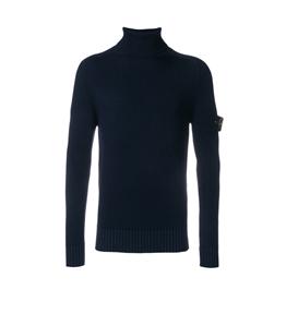 Stone Island - Maglie - maglia collo alto blu