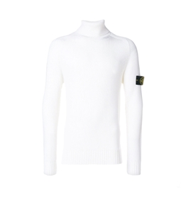Stone Island - Maglie - maglia collo alto bianco naturale