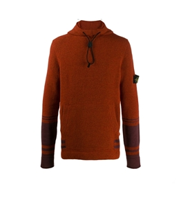 Stone Island - Maglie - maglia con cappuccio arancio