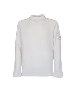 Stone Island - Maglie - maglia girocollo bianca