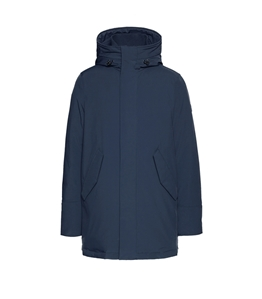 Woolrich - Giubbotti - stretch mountain parka melton blu