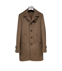 Barbati - Cappotto - cappotto moro chiaro microfantasia