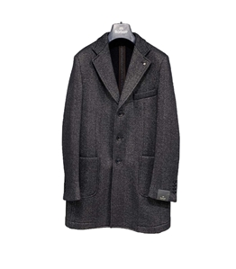 Barbati - Cappotto - cappotto blu microfantasia