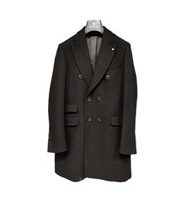 Barbati - Cappotto - cappotto doppiopetto nero