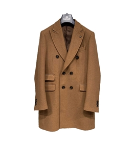 Barbati - Cappotto - cappotto doppiopetto cognac