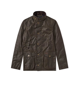 Barbour - Giubbotti - barbour leeward wax jacket olive