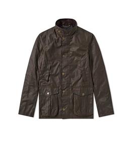 Barbour - Giubbotti - barbour leeward wax jacket olive
