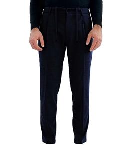 Be Able - Pantaloni - pantalone tasca america con pinces e coulisse blu