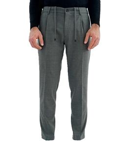 Be Able - Pantaloni - pantalone tasca america con pinces e coulisse grigio