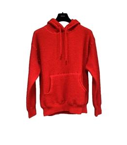 Grifoni - Maglie - felpa cappuccio rossa