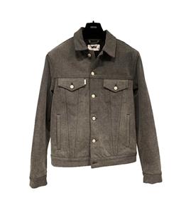 Grifoni - Giubbotti - giubbotto jeans denim grigio