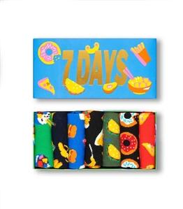 Happy Socks - Calze - 7 days of food gift box 7 paia