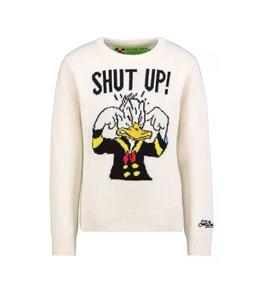 Mc2 Saint Barth - Maglie - maglione bianco shut up donald