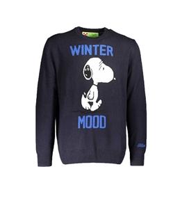 Mc2 Saint Barth - Maglie - maglione blu stampa winter mood